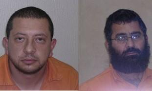 Terror suspects Bassem Omeri and Musa Hamada.