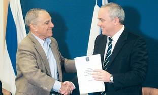Prof. Eitan Sheshinski and Yuval Steinitz.
