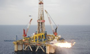 Drillling for gas offshore