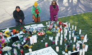 A memorial for those killed in Arizona shooting