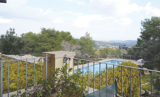 A private pool in Zichron Yaacov.