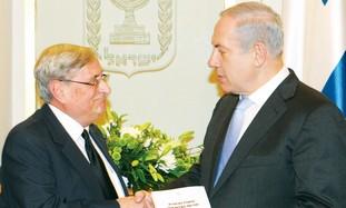 Prime Minister Binyamin Netanyahu, Judge Turkel.
