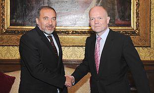 FM Avigdor Lieberman and Foreign Sec William Hague