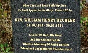 Henrey Hechler's tombstone