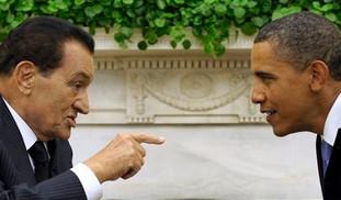 Egyptian President Mubarak with US President Obama