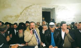 Ministers visit Joseph's Tomb in Nablus.