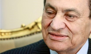 Deposed Egyptian president Hosni Mubarak