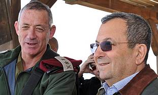 Benny Gantz and Ehud Barak