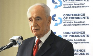 President Shimon Peres at Conference of Presidents