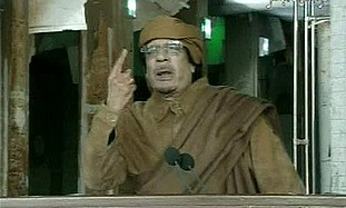 Gaddafi addresses the nation, Tuesday