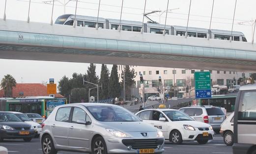Traffic in Jerusalem.