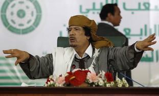 Libyan leader Muammar Gaddafi.