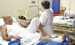 Hospitalized man [illustrative]