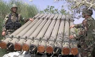 Hezbollah rocket launcher