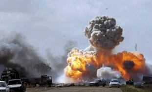 Air strike on Libyan government forces