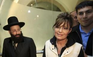 Former Alaska governor Sarah Palin at Kotel