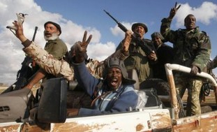 Libyan rebels celebrate
