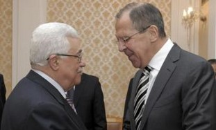 PA President Abbas with Russian FM Sergei Lavrov