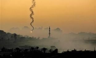 IAF fires flare above northern Gaza Strip
