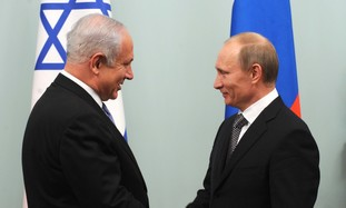 PM Netanyahu with Russian PM Vladimir Putin