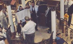 Josh Kotz's bar mitzva at the Hurva synagogue.