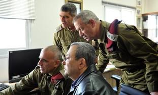 Defense Minister Ehud Barak and Bennie Gantz
