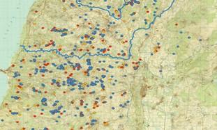 Map of Hizbullah bunkers south Lebanon