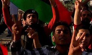 Rebels in Benghazi