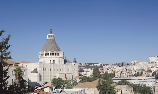 View of Nazareth and its famous landmark