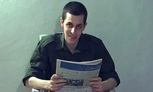 Captured soldier Gilad Schalit in video