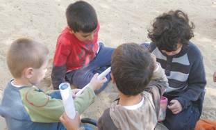 Children at the Hadar school
