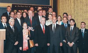 PM Netanyahu and EU ambassadors in J'lem, Monday.