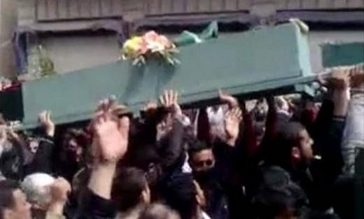 Funeral for pro-democracy activists in Deraa
