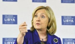 US Secretary of State Hillary Clinton speaks