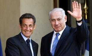 PM Netanyahu with French President Nicolas Sarkozy