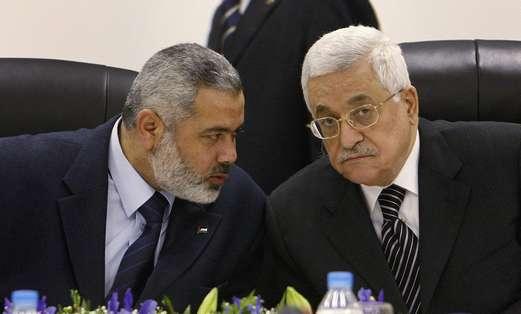 Mahmoud Abbas and Ismail Haniyeh