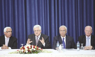 PA President Mahmoud Abbas meets with Israelis