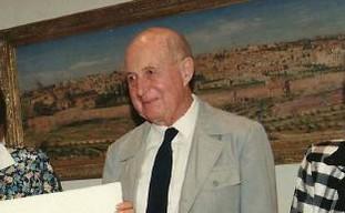 Israeli jurist Moshe Landau in 1993