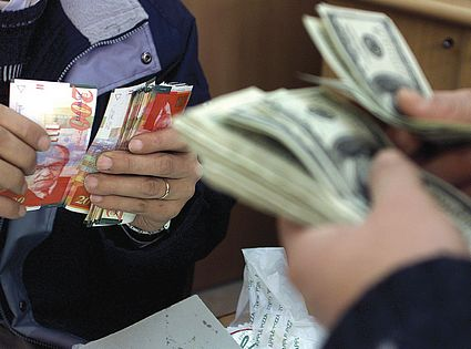 shekel and dollar