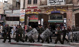 Border Police at Damascus Gate on Nakba Day