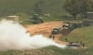 IDF tanks on the Golan border on Nakba Day