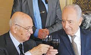 Peres with Italian President Giorgio Napolitano