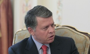 Jordan's King Abdullah in Moscow, April 2011.