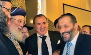 GABRIEL MIRILASHVILI flanked by Amar and Deri