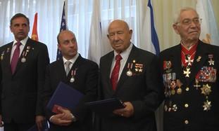 Russian cosmonauts visiting Israel