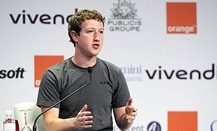 Facebook founder Mark Zuckerberg at eG8 forum