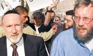US millionaire Irving Moskowitz (left)