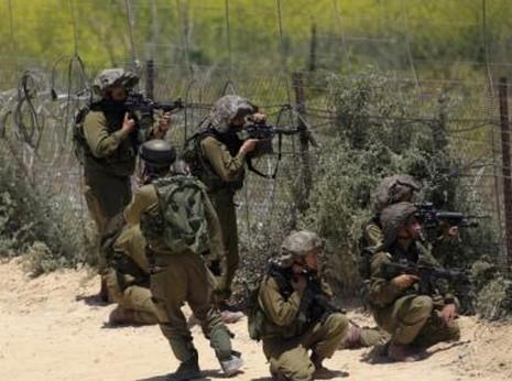 IDF solders on the Syrian-Israeli border.
