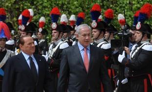 PM Binyamin Netanyahu and PM Berlusconi
