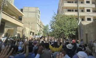 Syrians protest against  Assad in Deir al-Zour